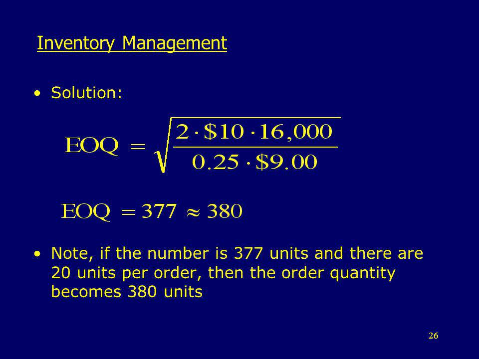 Inventory Management Solution: