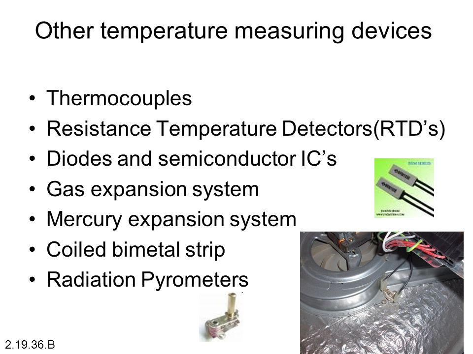 Other temperature measuring devices