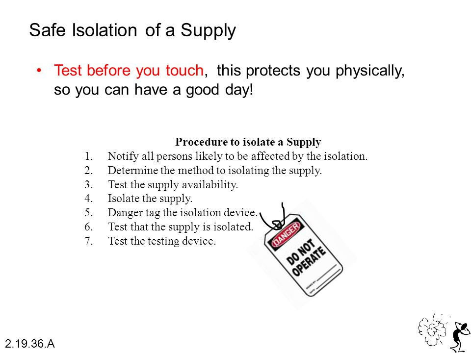 Procedure to isolate a Supply