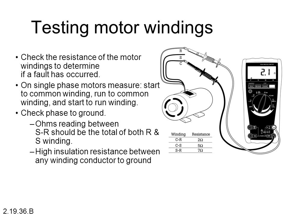 Ekas fault find general appliances ppt video online for How to check ac motor
