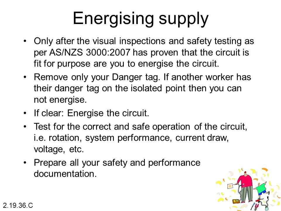 Energising supply