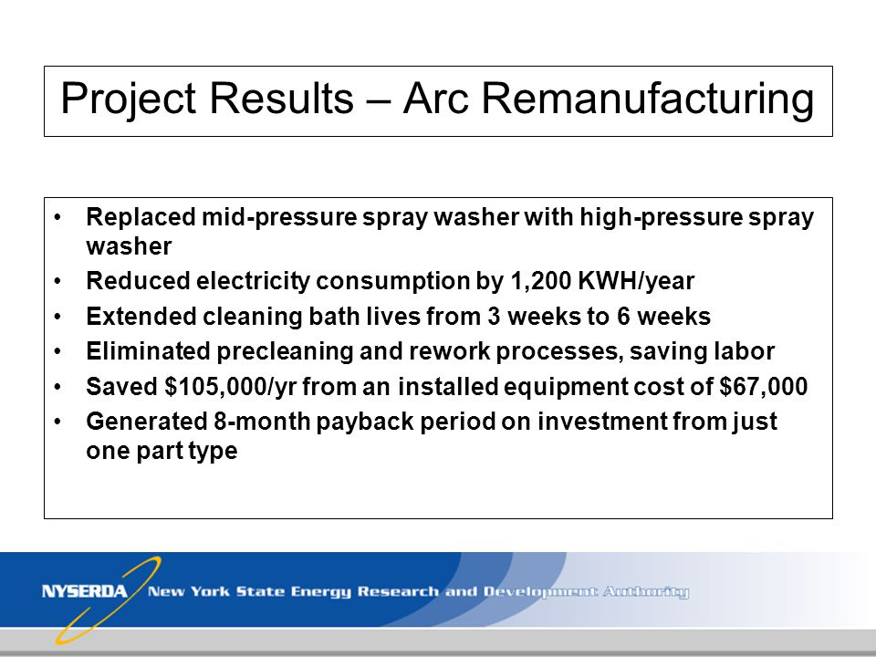Project Results – Arc Remanufacturing
