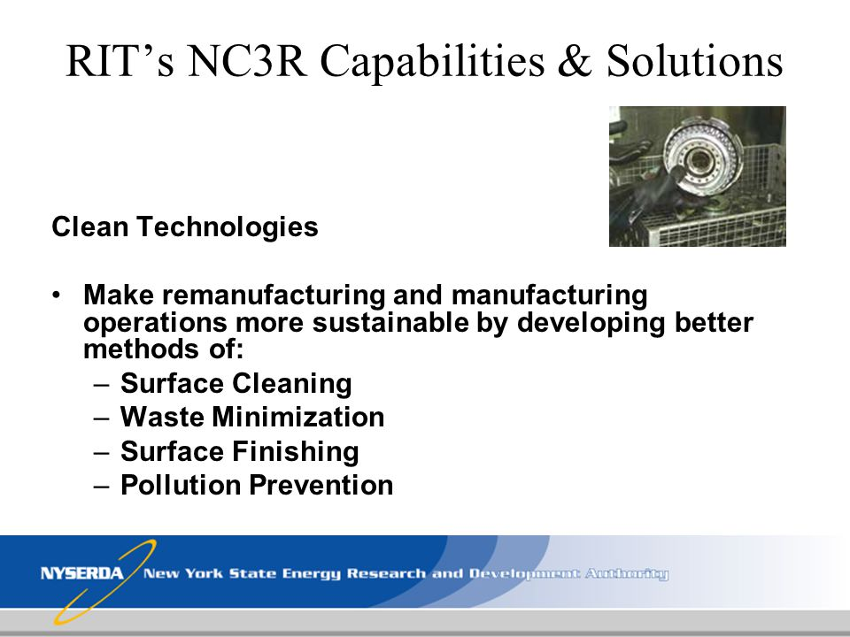 RIT's NC3R Capabilities & Solutions