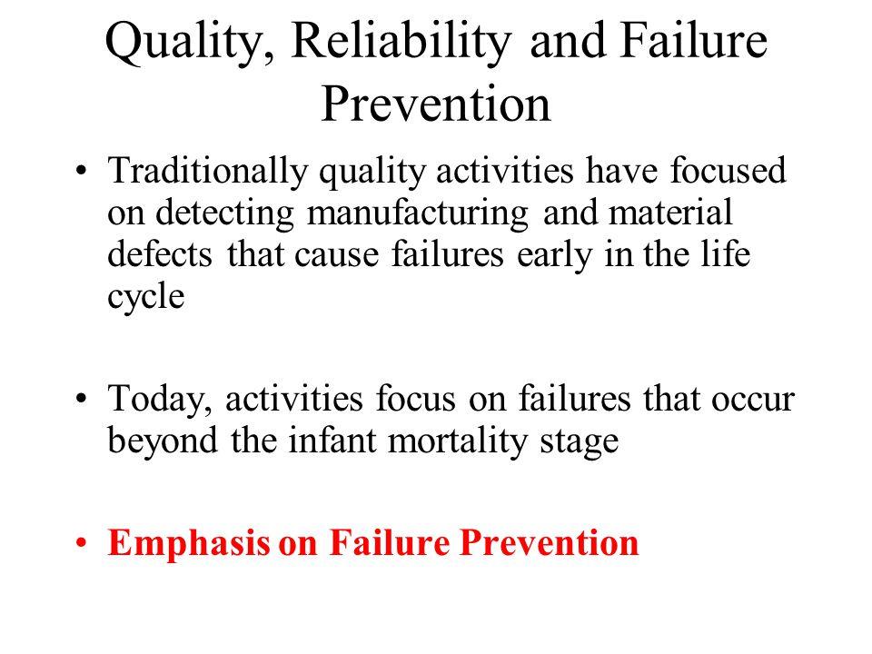 Quality, Reliability and Failure Prevention