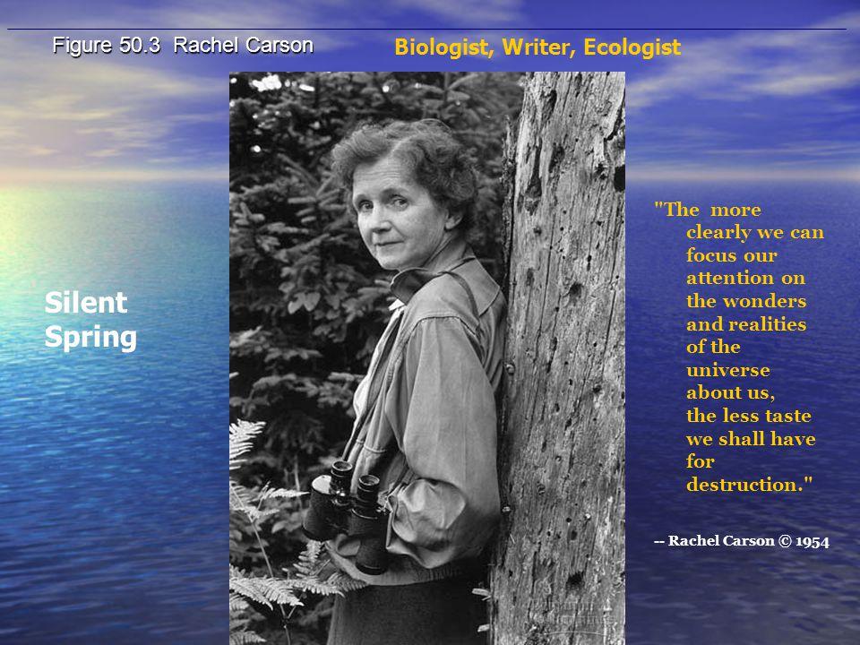 Silent Spring Figure 50.3 Rachel Carson Biologist, Writer, Ecologist
