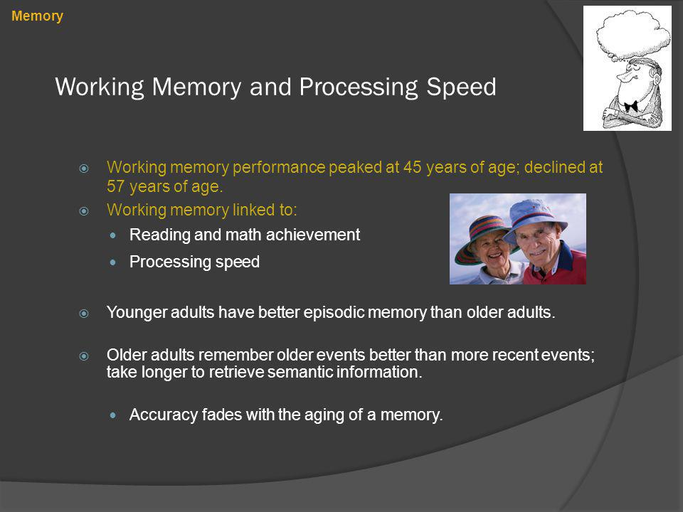 Working Memory and Processing Speed