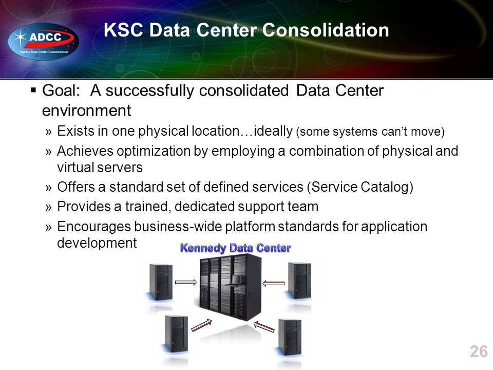 KSC Data Center Consolidation