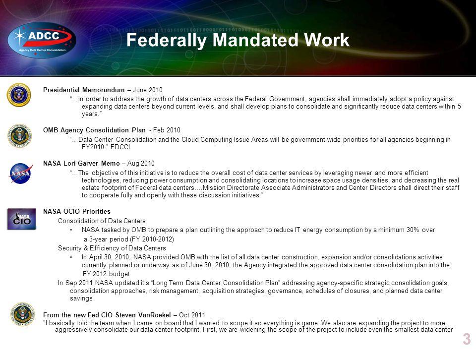 Federally Mandated Work