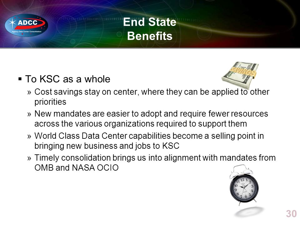 End State Benefits To KSC as a whole
