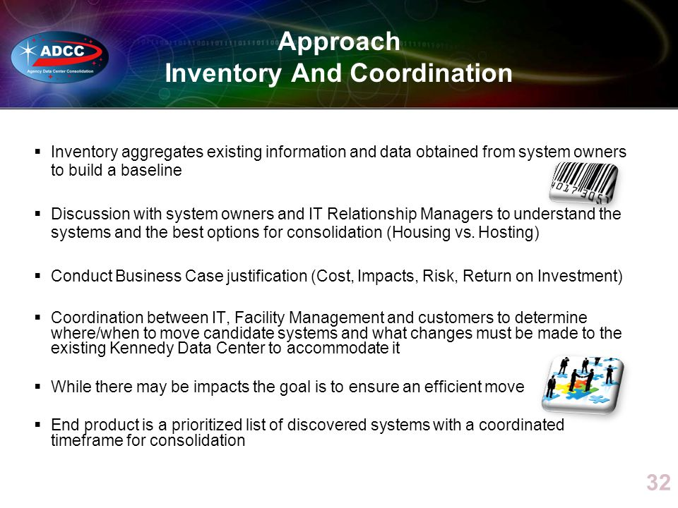 Approach Inventory And Coordination