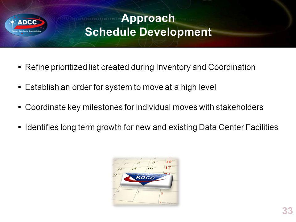 Approach Schedule Development