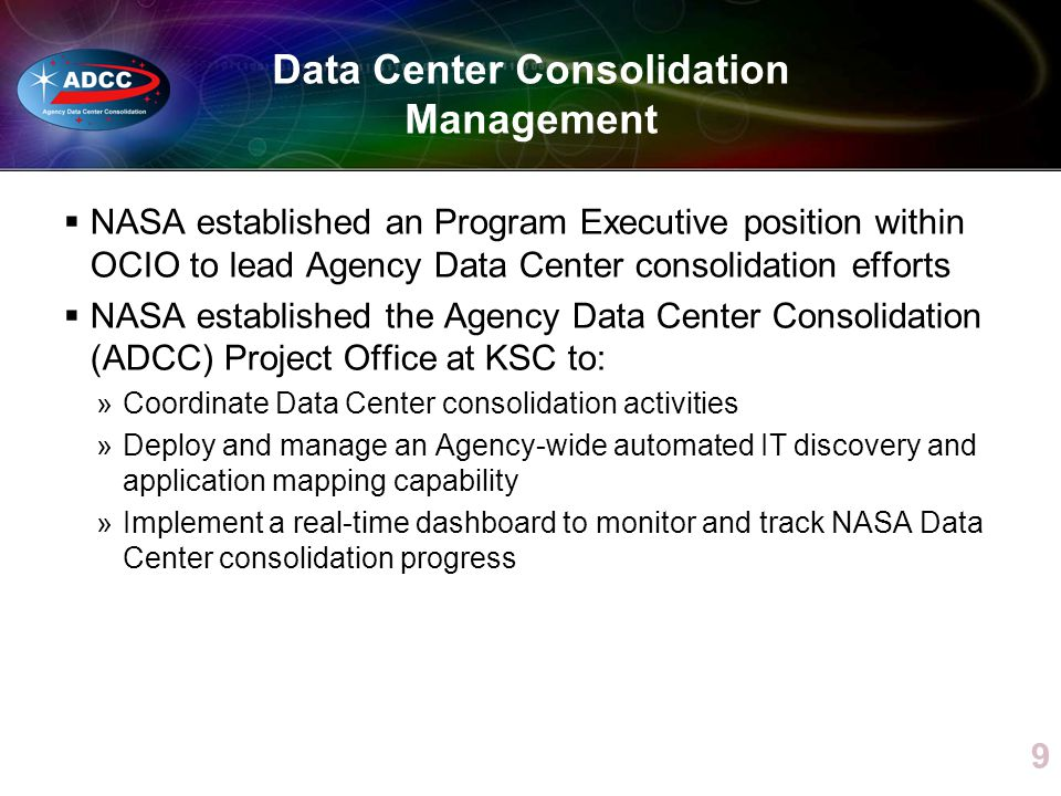 Data Center Consolidation Management