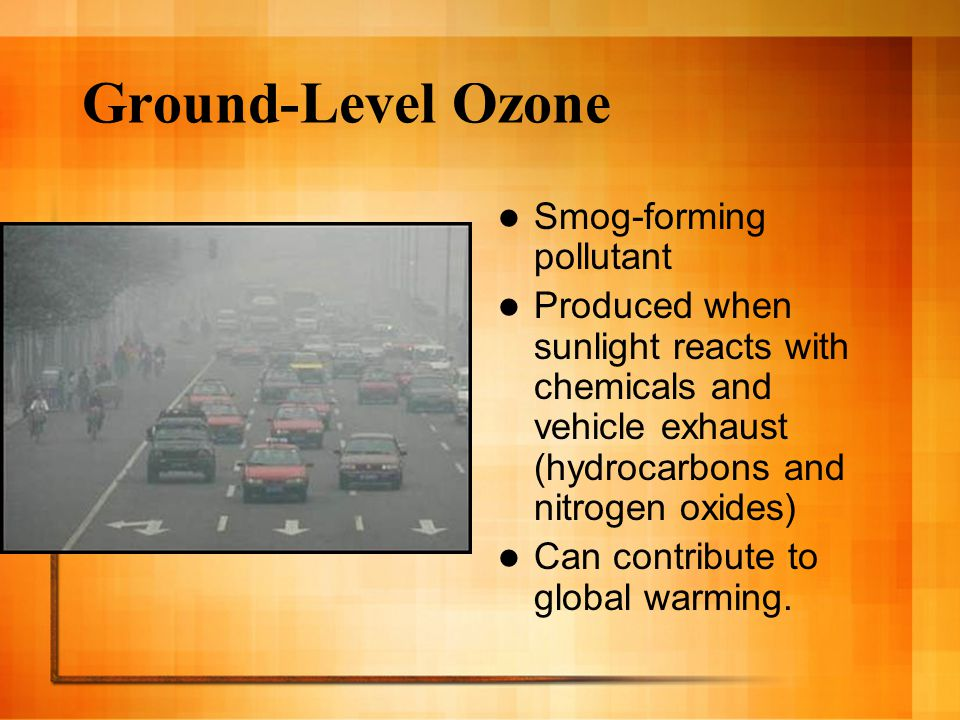 Ground-Level Ozone Smog-forming pollutant