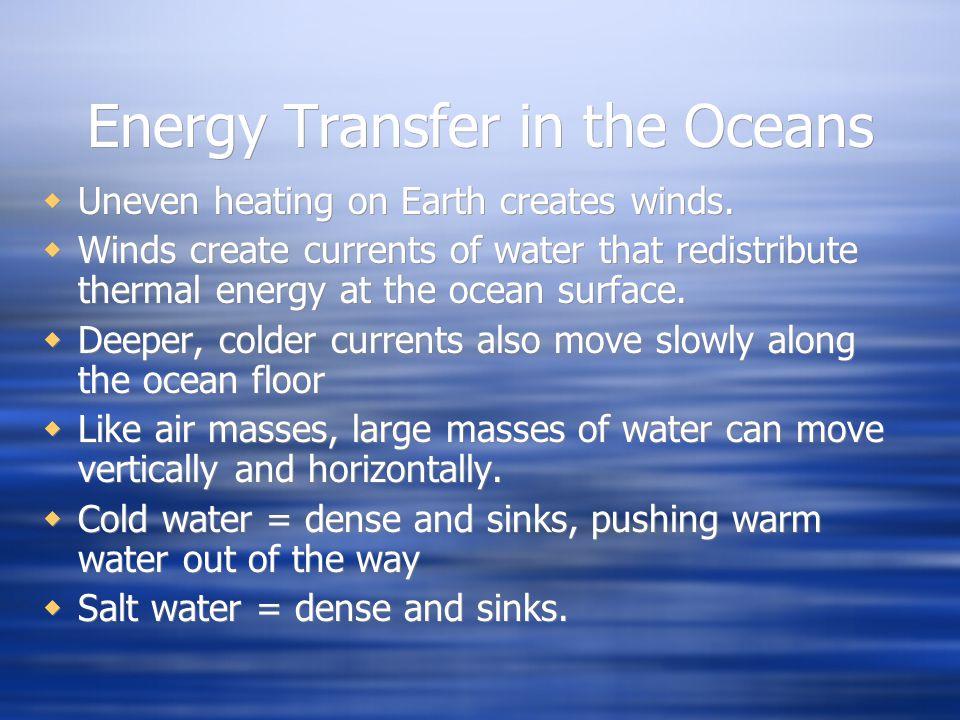 Energy Transfer in the Oceans