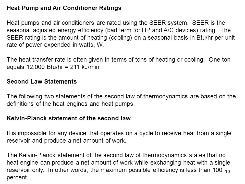 Heat Pump and Air Conditioner Ratings