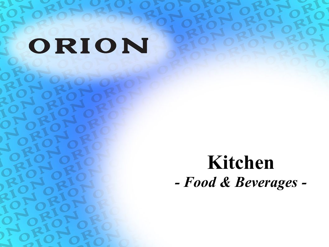 Kitchen - Food & Beverages -