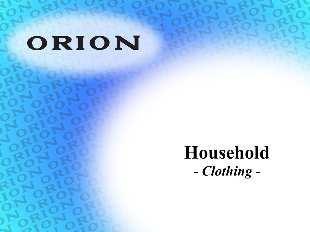 Household - Clothing -