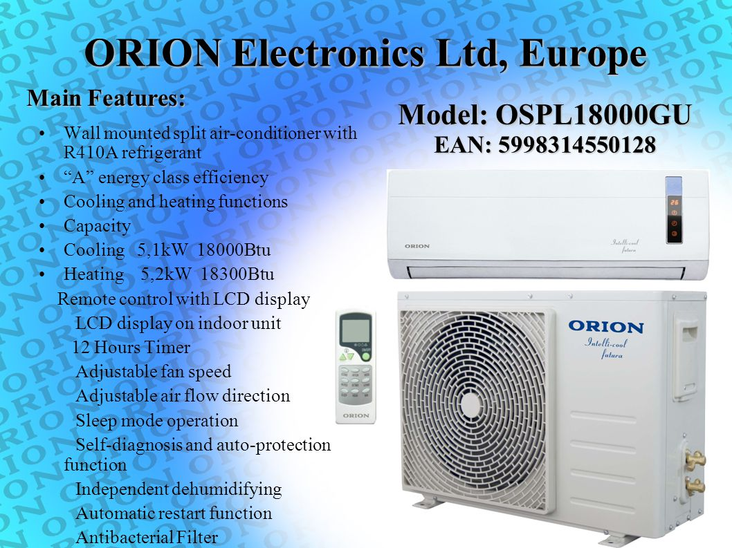 ORION Electronics Ltd, Europe