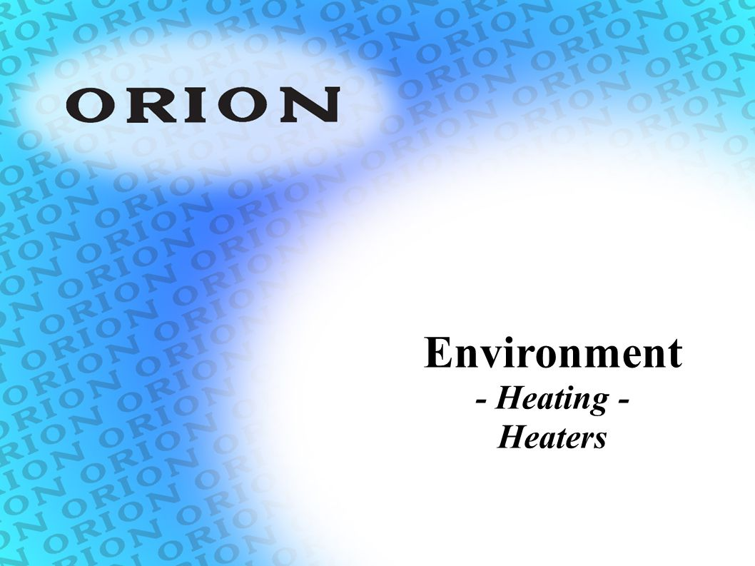Environment - Heating - Heaters