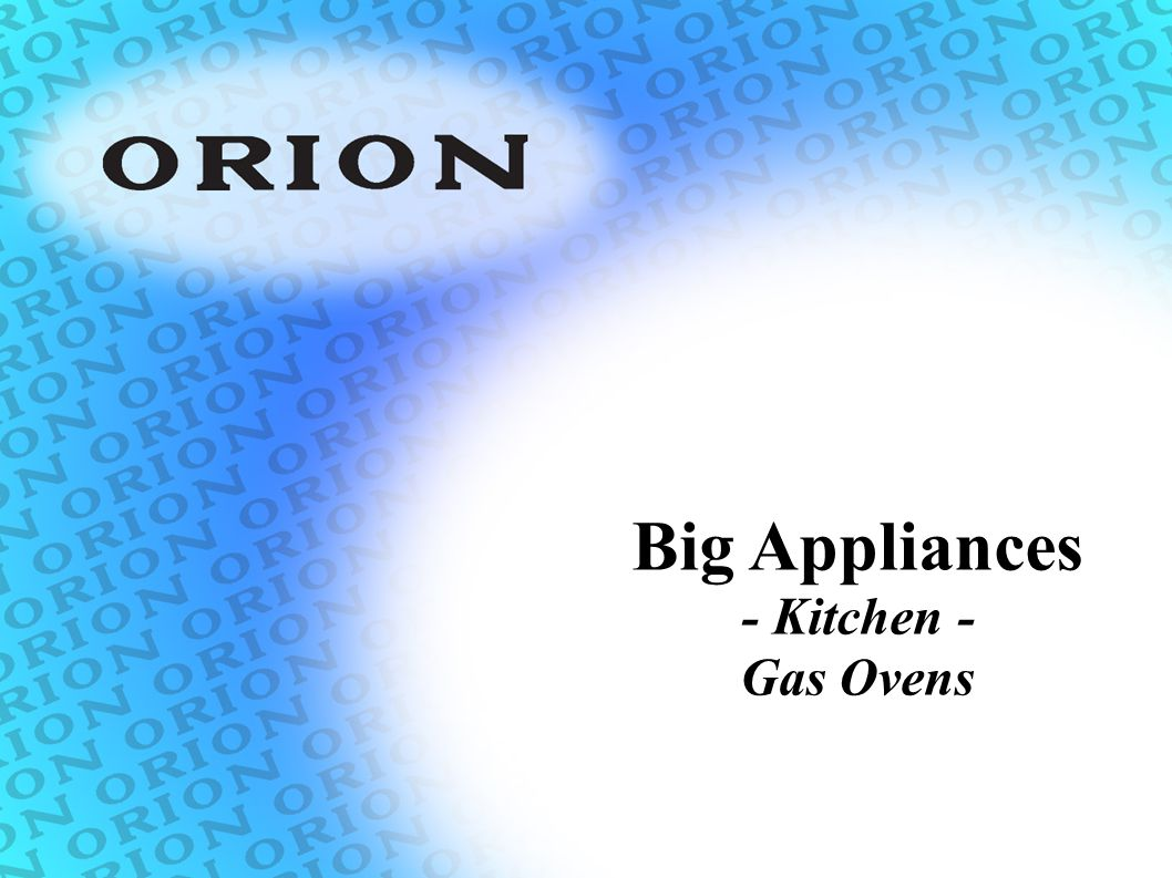 Big Appliances - Kitchen - Gas Ovens