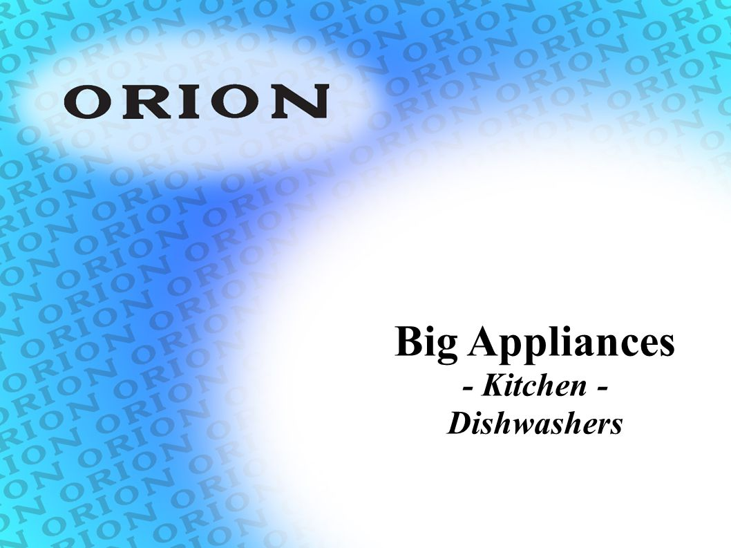 Big Appliances - Kitchen - Dishwashers
