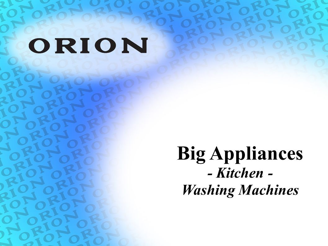 Big Appliances - Kitchen - Washing Machines