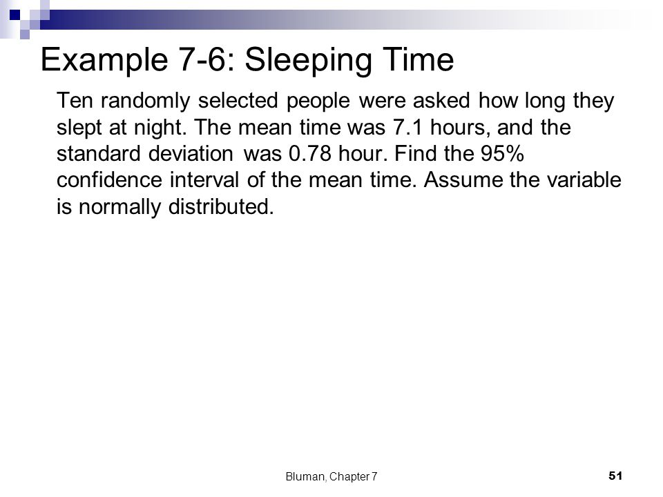 Example 7-6: Sleeping Time