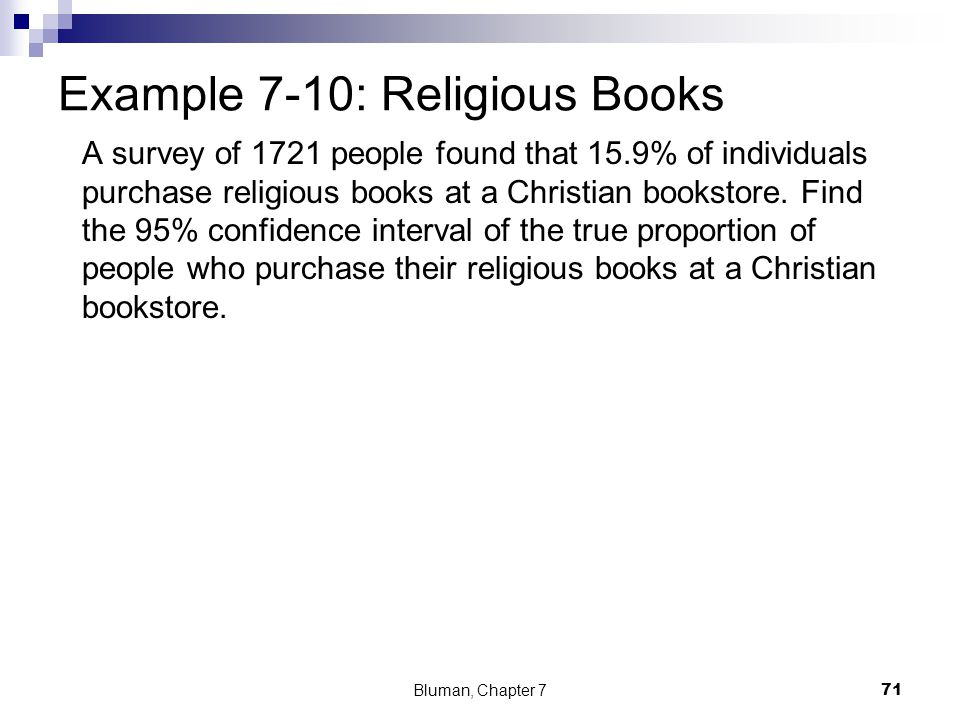 Example 7-10: Religious Books
