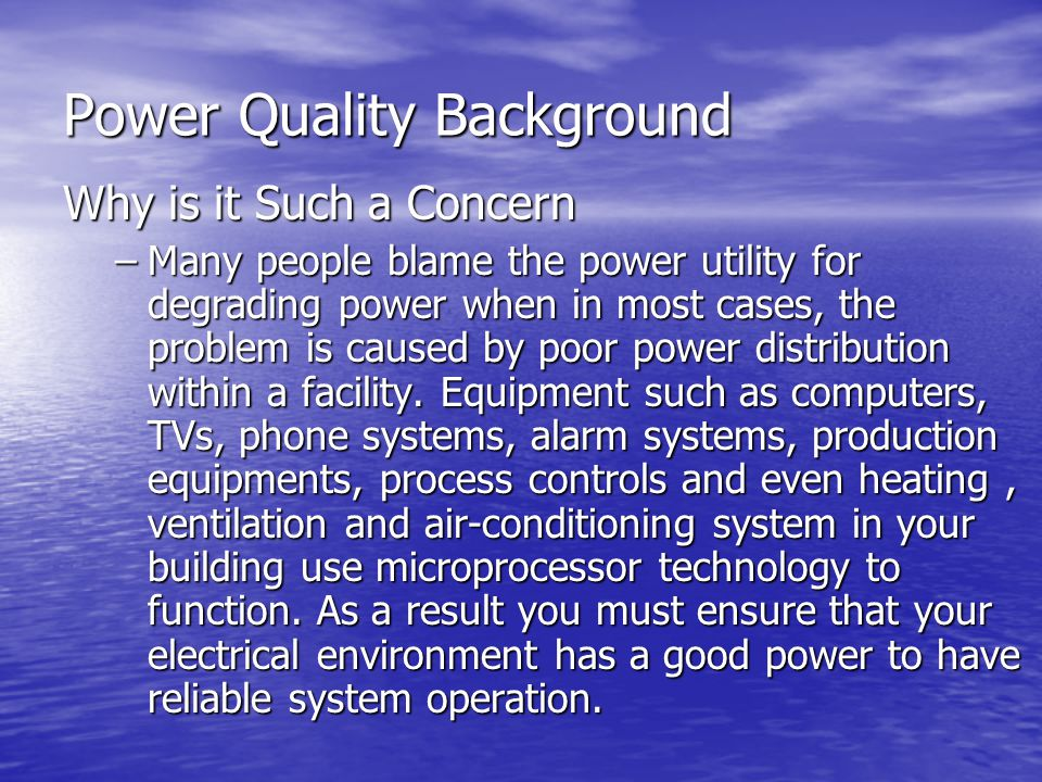Power Quality Background