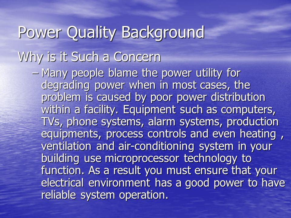 Power Quality Background