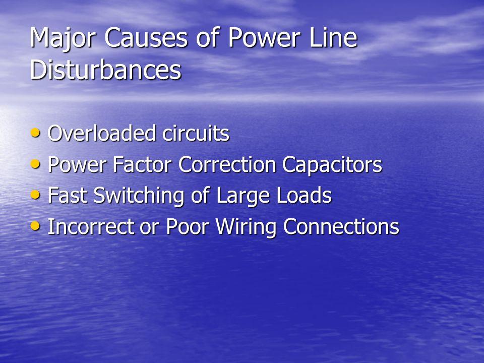 Major Causes of Power Line Disturbances