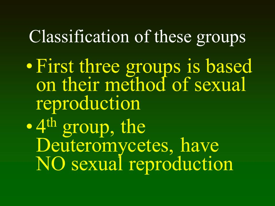 Classification of these groups