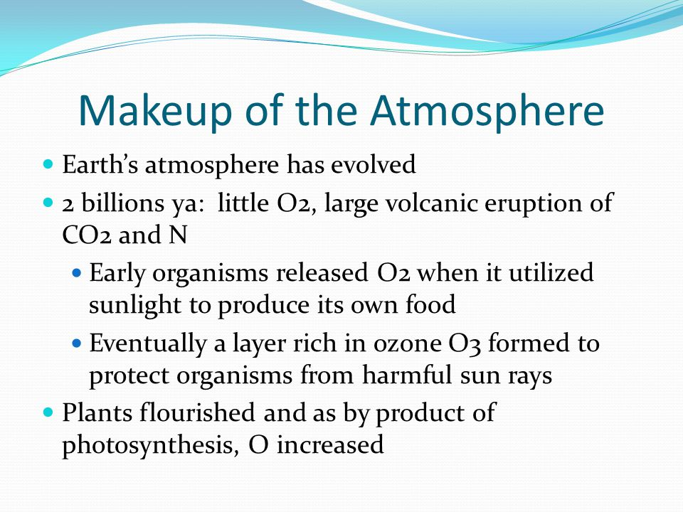 Makeup of the Atmosphere