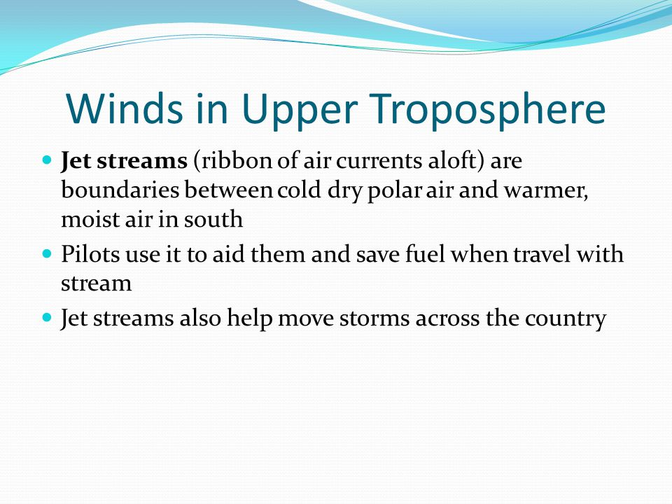Winds in Upper Troposphere