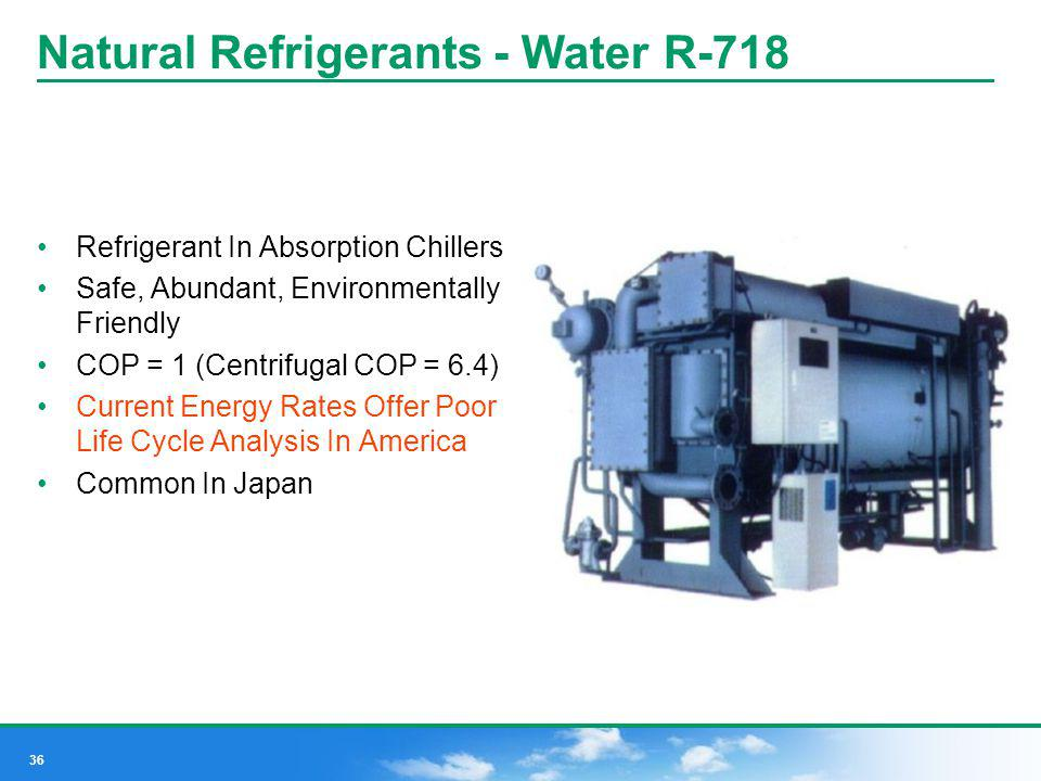Natural Refrigerants - Water R-718