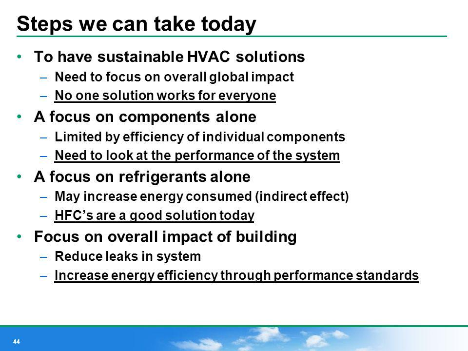 Steps we can take today To have sustainable HVAC solutions
