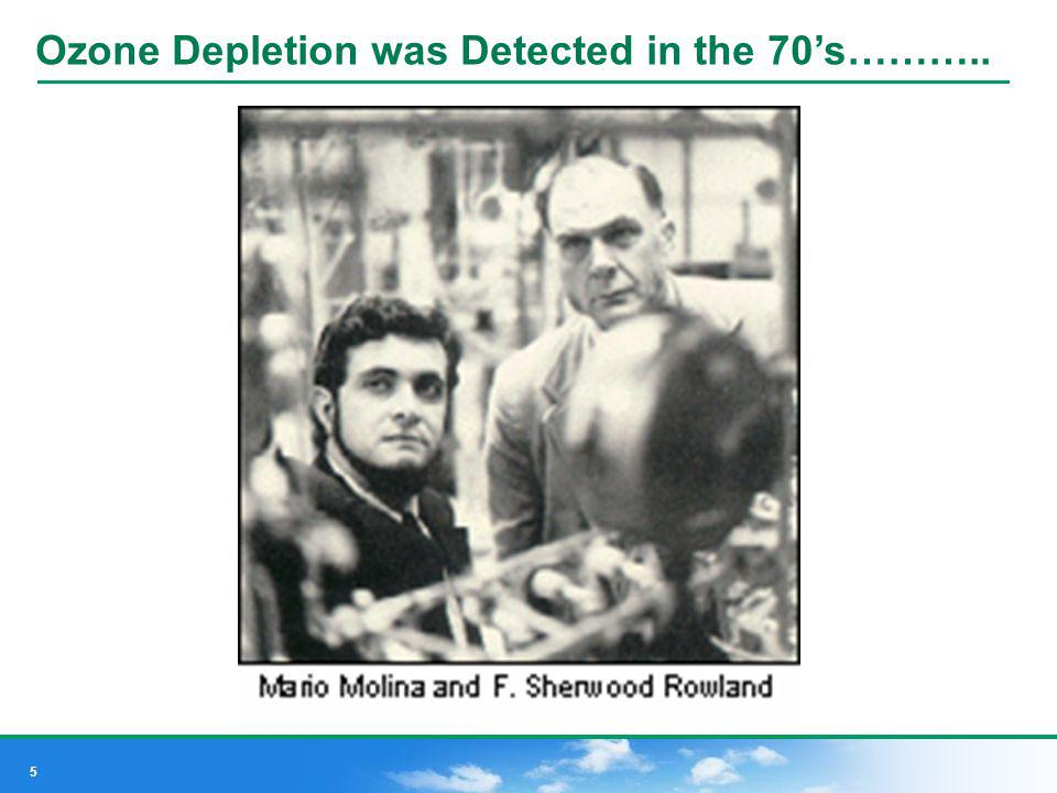 Ozone Depletion was Detected in the 70's………..