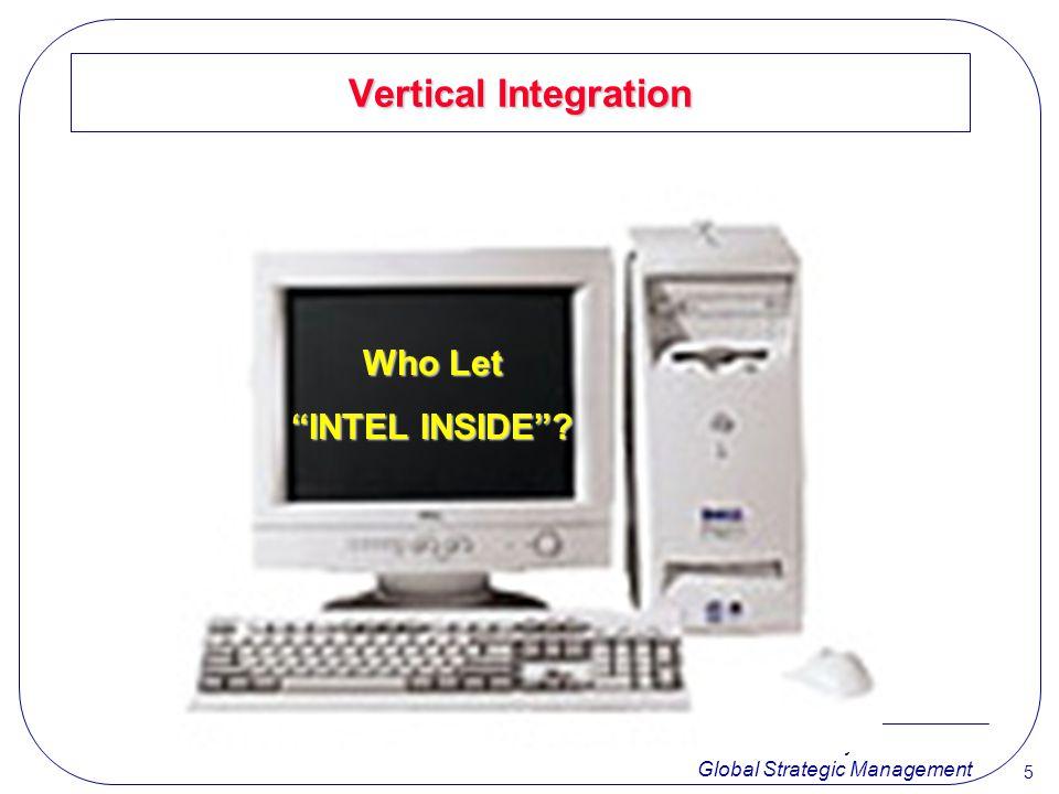 Vertical Integration Who Let INTEL INSIDE