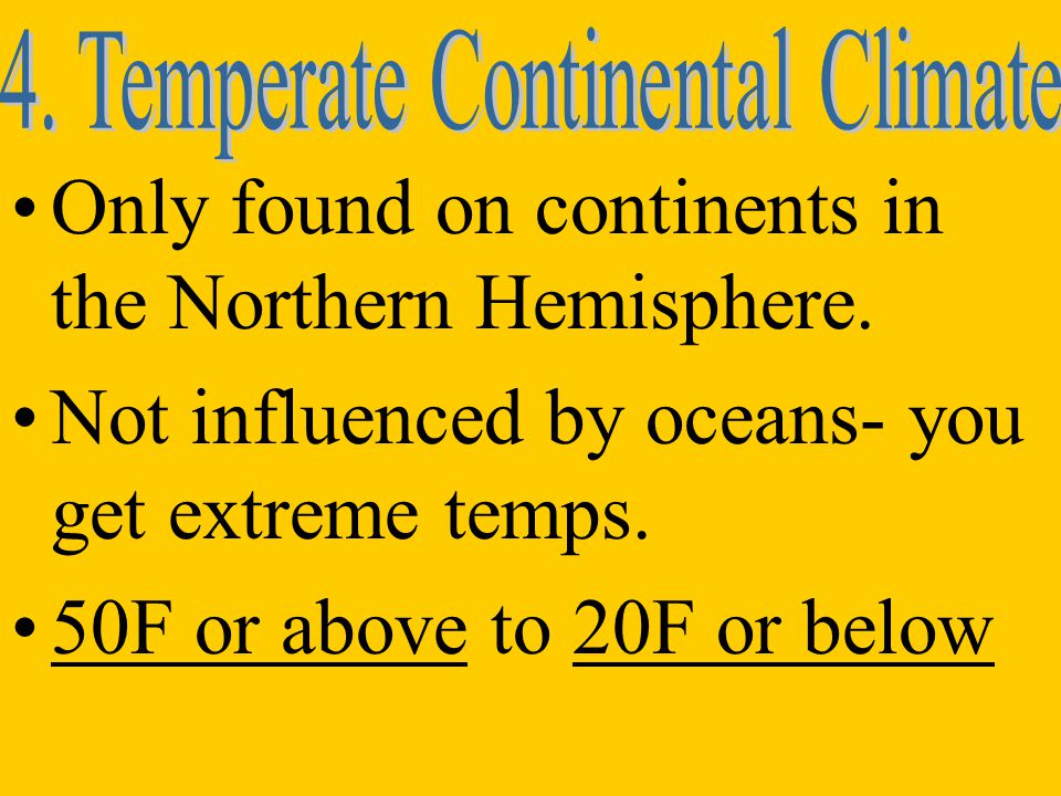 4. Temperate Continental Climate