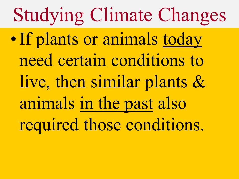 Studying Climate Changes