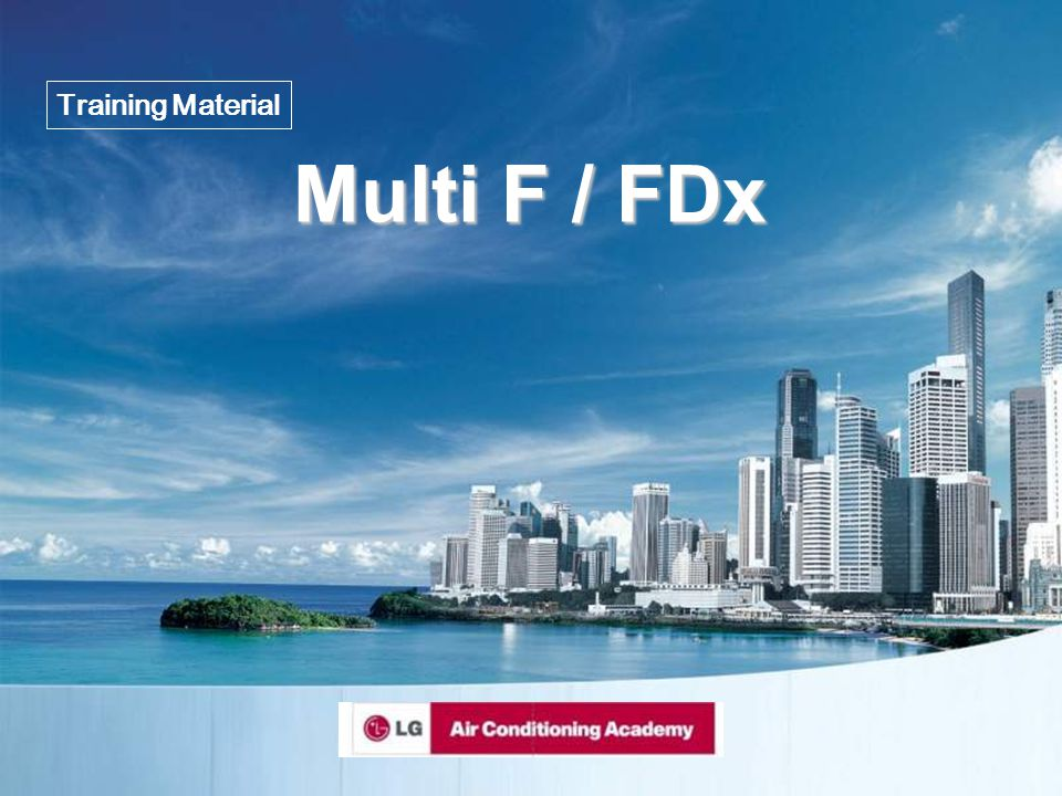 Training Material Multi F / FDx