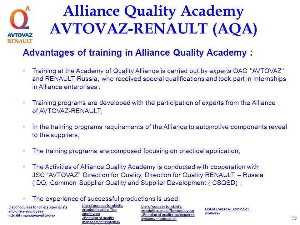Alliance Quality Academy AVTOVAZ-RENAULT (AQA)
