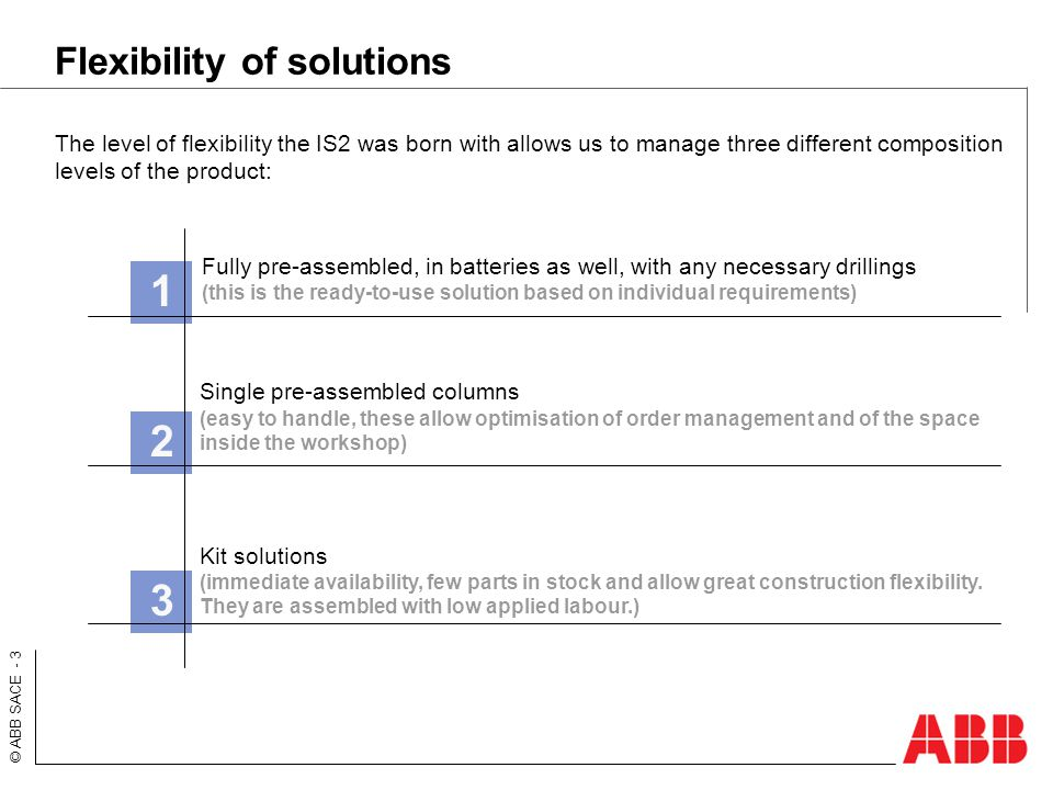 Flexibility of solutions
