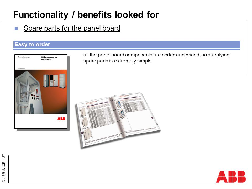 Functionality / benefits looked for