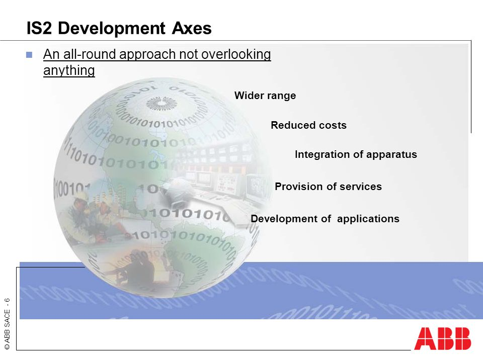 IS2 Development Axes An all-round approach not overlooking anything
