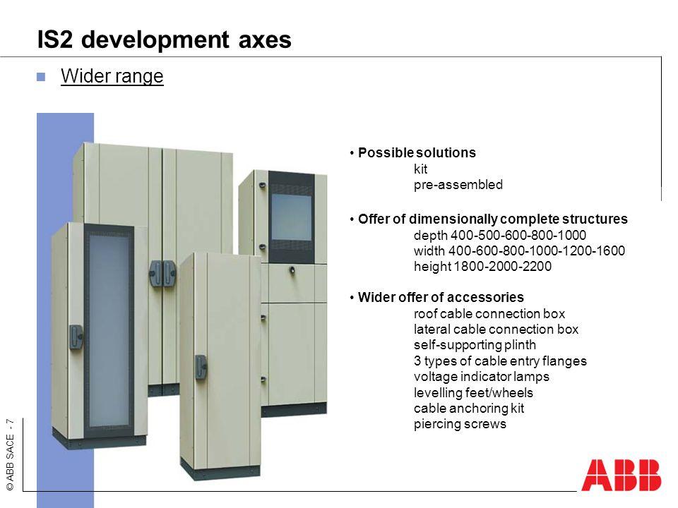 IS2 development axes Wider range