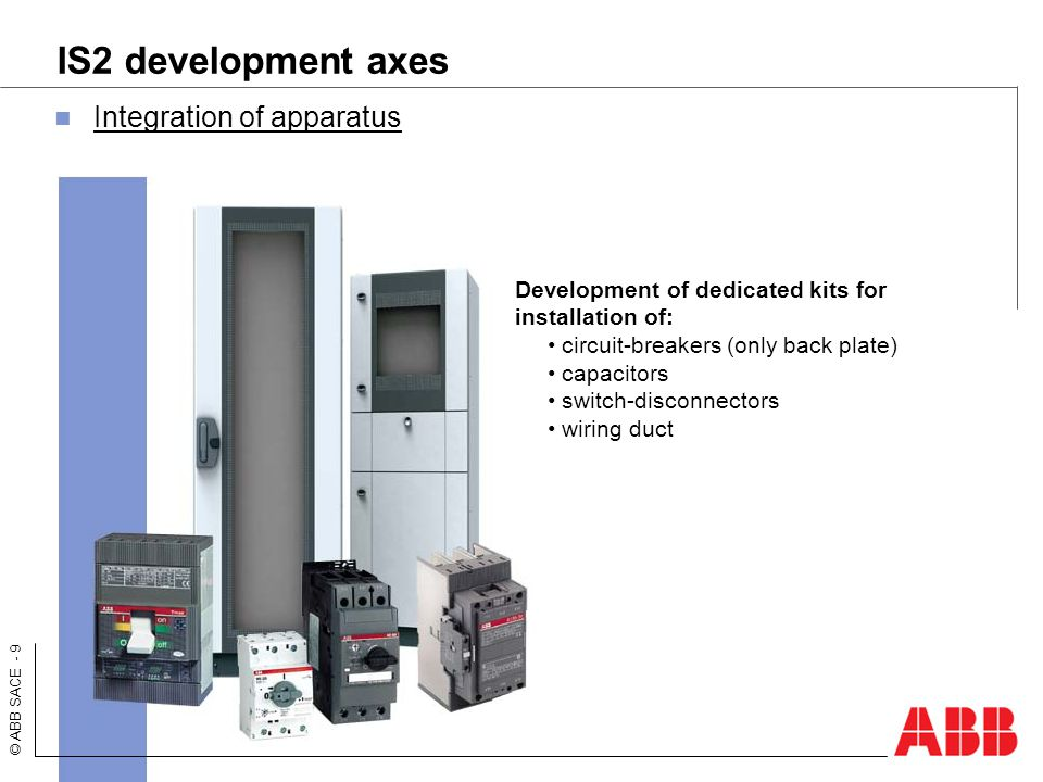 IS2 development axes Integration of apparatus