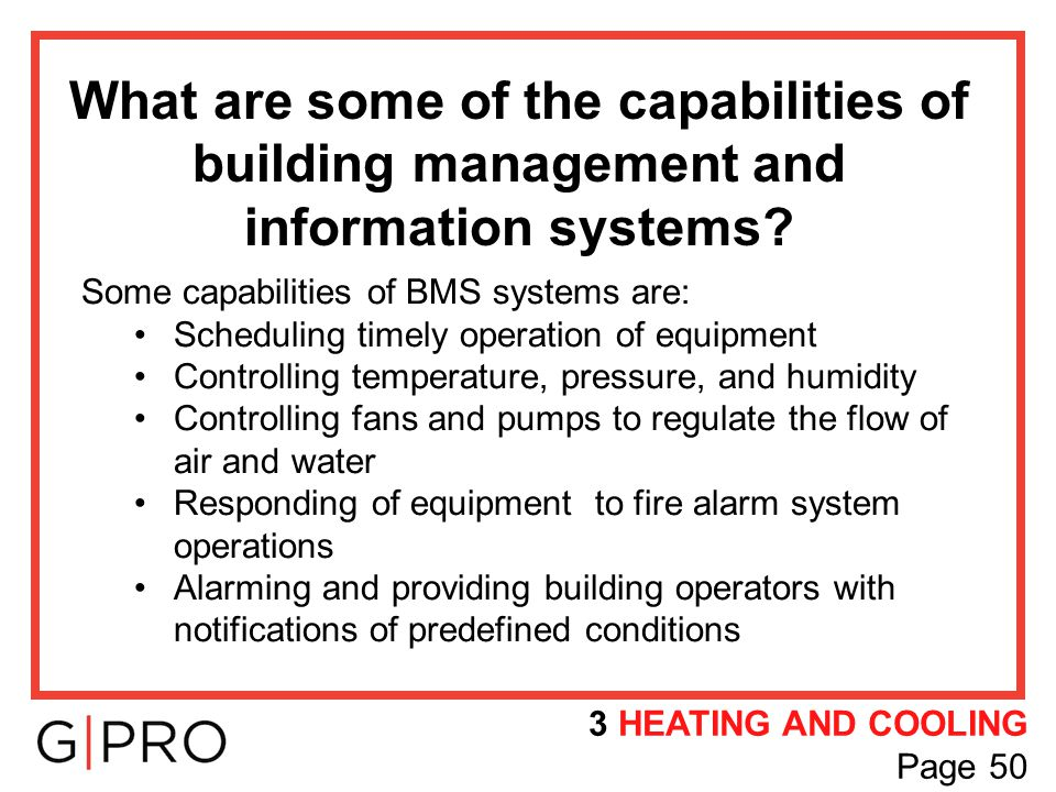 What are some of the capabilities of building management and information systems