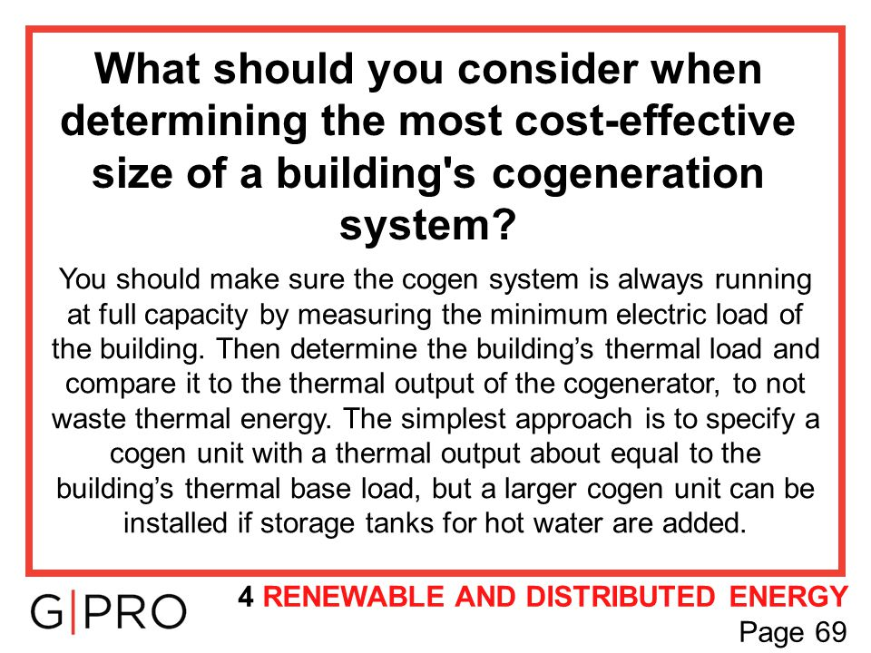 What should you consider when determining the most cost-effective size of a building s cogeneration system