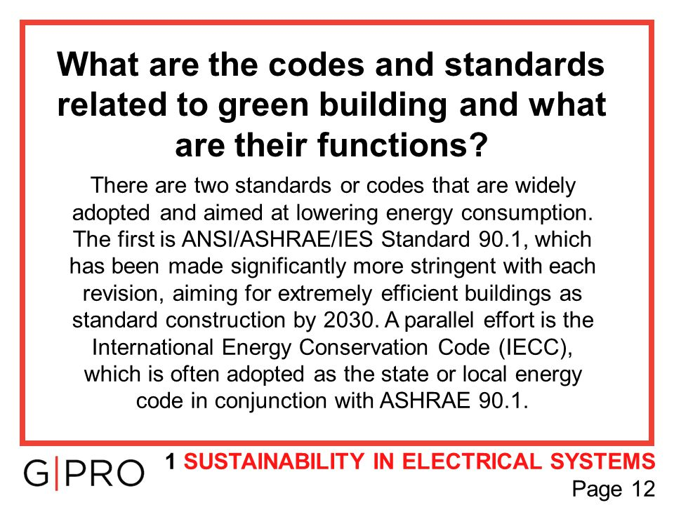 What are the codes and standards related to green building and what are their functions